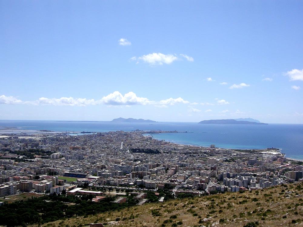 Le isole Egadi viste da Trapani
