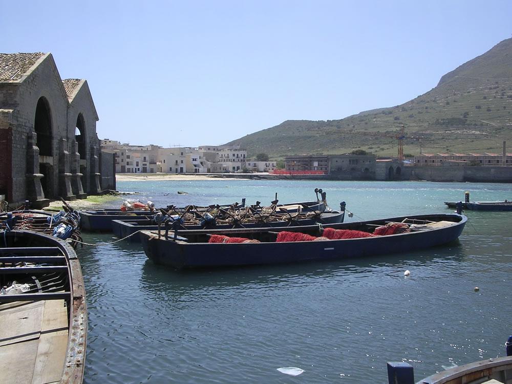 Favignana, le barche della tradizionale pesca del tonno rosso
