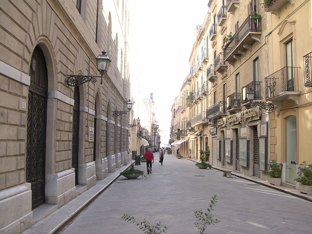 Trapani: le vie del centro storico