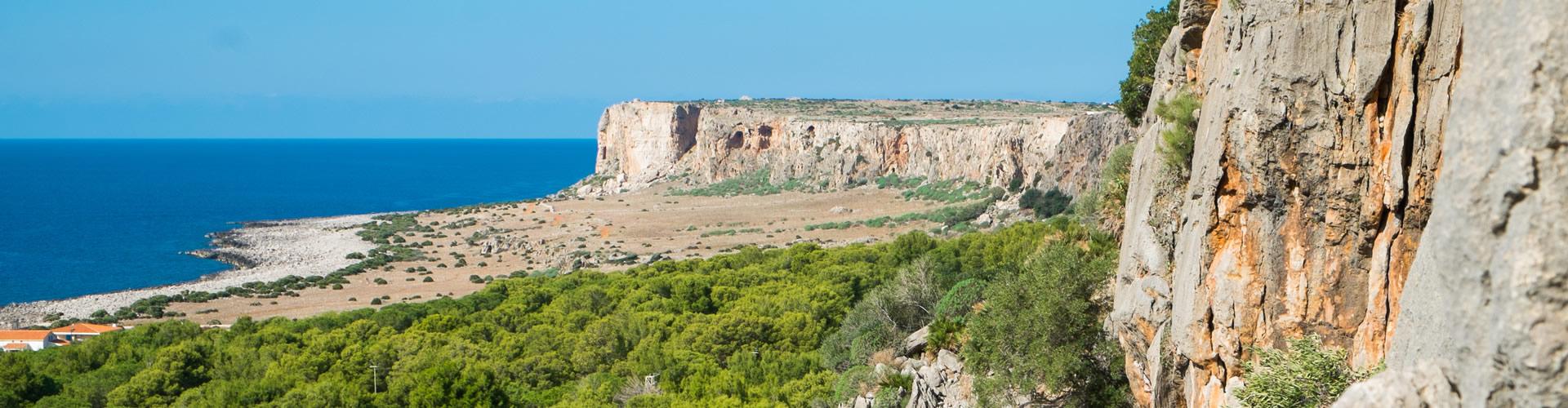 Le pareti rocciose a San Vito Lo Capo